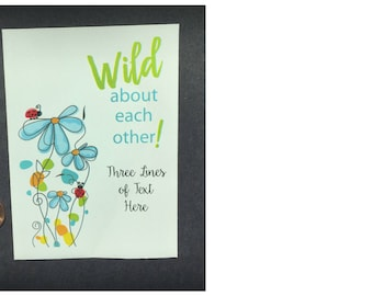 50 personalized wildflower seed packets