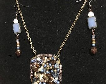 Wire wrap blues and browns