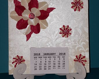 2018 calendar 6x6 with stand