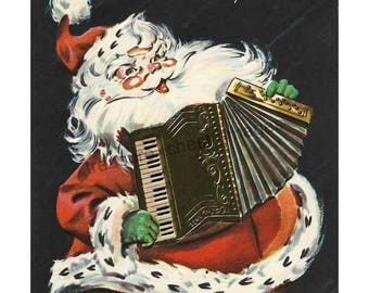 Vintage Santa Claus Image for Instant Digital Download