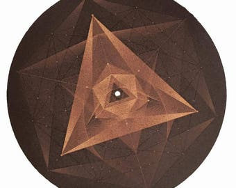 Turntable Slipmat - Specially designed Cork.Spices pyramid