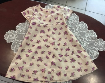 Rockabilly Funky Flower Power Vintage Party Dress approx size 4T