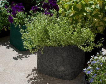 Gray Felt Planter Boxes for Gardening by Urban Greenie