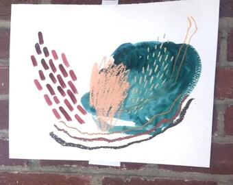 "Abstract Original Acrylic Painting ""Fairy Glens"""