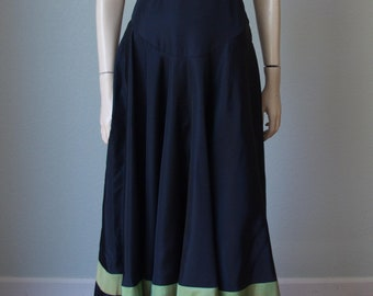 Charming Taffeta  1930s Gown / Sculptural Sleeves and Back slits / Art Deco Dress / 30s Dress / Antique Dress  / Small