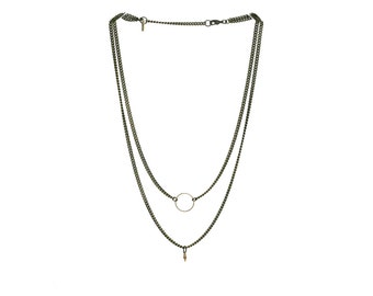 Aria Layered Charm Necklace