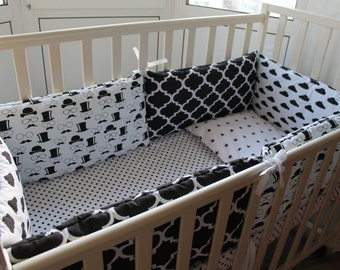 Baby bedding set, black and white bedding,black and white prints,scandinavian style,scandinavian print,baby bed,baby shower gift,baby boy