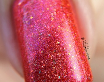 New! Red Inspiration from the ROY G. BIV collection of colorshift holographic indie polish by MDJ Creations