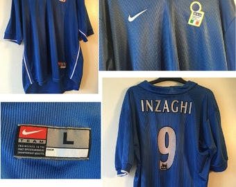 Italy1997-1998 World Cup football shirt - Inzaghi Number 9
