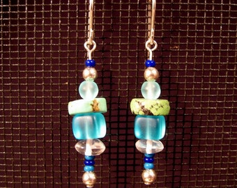 Sterling Silver Ocean Colors Dangle Earrings