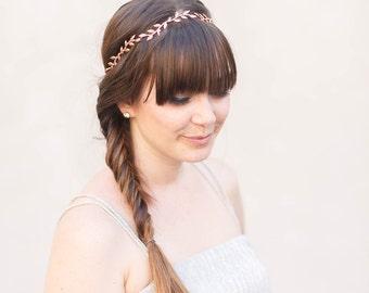 Simple Leaf Hair Vine- Bridal Hair Accessories, Gold, Silver, Rose Gold, Boho wedding, bridal hair piece, wedding hair piece, wedding crown
