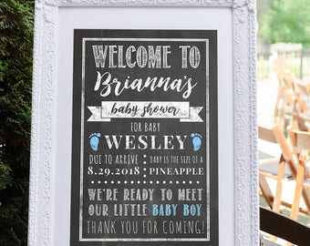 Baby Shower Decorations, Baby Shower Sign, Baby Shower Welcome Signs, Baby Shower Decoration, Boy Baby Shower, It's a Boy Blue Baby Shower