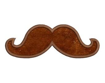 Applique Mustache Moustache Machine Embroidery Designs 4x4 & 5x7 Instant Download Sale