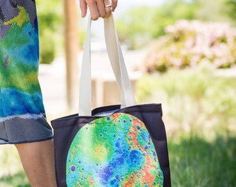 Topography of Mercury tote bag