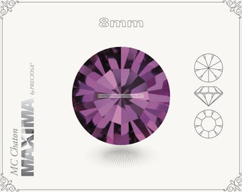 6 pc.+ SS39 (8mm) Preciosa MC Chaton MAXIMA - Amethyst Color