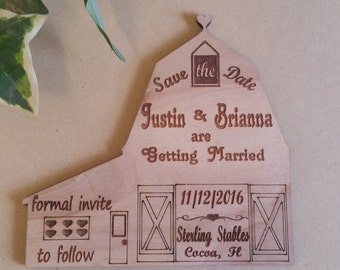 Save the date barn wedding, wedding save a date, rustic wedding, barn wedding, unique wedding