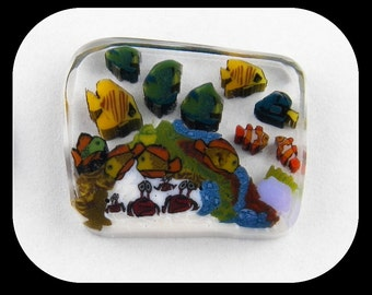 Aquarium by Greg Chase Murrine Boro Coin - 128 A