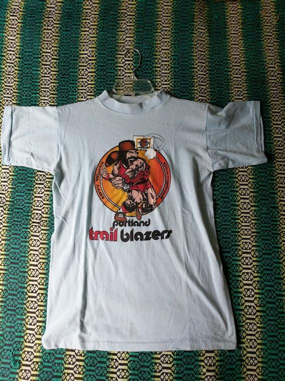Promo Blazers Shirt Portland 70s 1977 Sportswear Vintage T Tshirt Basketball Trail Rare Vintage q4xg6