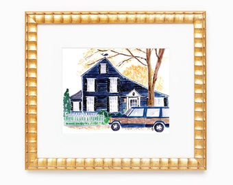 Custom Home Painting • 8x10 original watercolor painting of your house