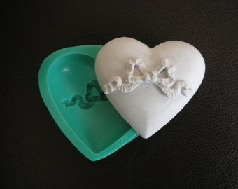 Silicone mold to create beautiful Heart . Soap mold Valentine mold Heart Soap mold Food mold Heart mould