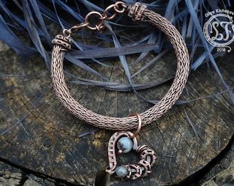 Viking jewelry, Viking bracelet, Wire wrap bracelet, Viking knit, Wirewrap bracelet, Wrapped bracelet, Wire bracelet, knit bracele