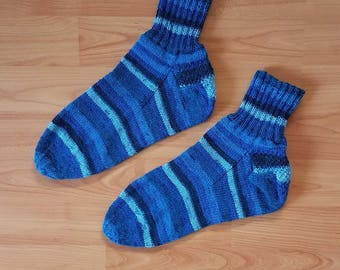 Hand-knitted socks - size 44/45