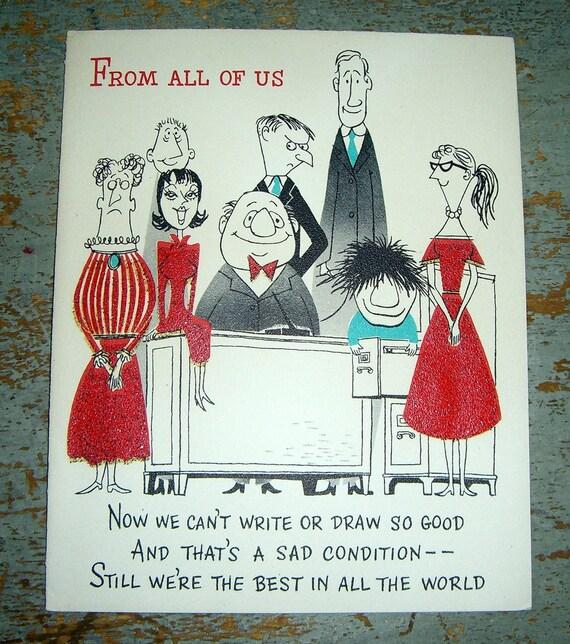 Vintage Cards Birthday From All Of Us Hallmark Unused