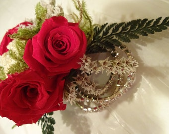 Wedding Wrist Corsage   Prom Corsage   Preserved Roses  Preserved Red Rose Wrist Corsage  Made To Order