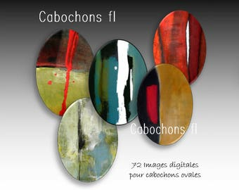 Digital images for oval cabochons abstract art
