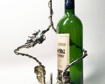 Elegant French Vintage Silver Plated Bottle Holder - 2 Places Bottle Holder