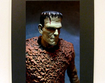 "Framed Frankenstein Toy Photograph 4x6"" Boris Karloff Monster"