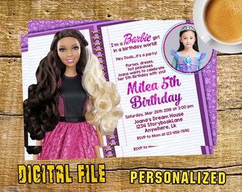 Barbie Birthday Party Invitation, Barbie Birthday Party, Barbie Party, Barbie Birthday, Barbie Invitation, Barbie Printable, Barbie-F0213