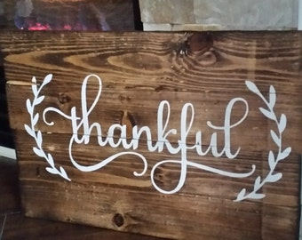 Thankful Pallet Sign - Reclaimed Wood - Pallet Art
