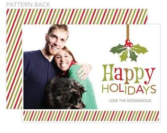 Mistletoe Holiday Photo Card, Printable