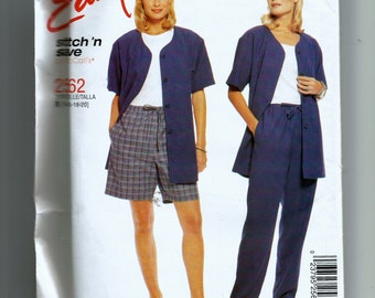 McCall's Misses' Unlined Jacket,  Pull-On Pants and Shorts  Pattern 2562