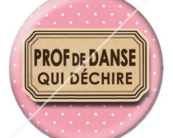 resin cabochon mounted on a stick dance teacher 6 25 mm