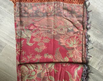 Cashmere and Silk Blend Tree of Life Throw