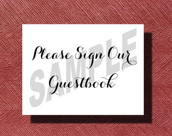 Wedding Please Sign Our Guest Book Sign