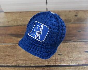 Baby Boy Clothes, Newborn Baby Boy Hat, Baby Boy Clothes, Baby Boy Take Home Hat, Newborn Baby Boy Outfit - Duke University Baby Hat