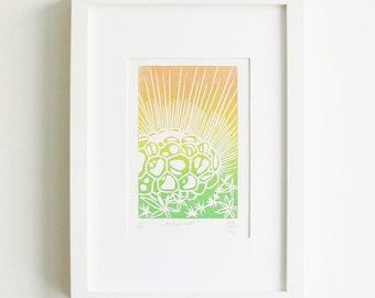 Candlelight Linoprint
