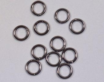 6mm Closed Jump Rings - Gunmetal - Choose Your Quantity