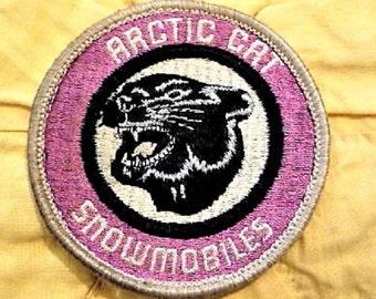 Arctic Cat Snowmobiles Patch  ...  Vintage Winter Snowmobile Souvenir - Collectible