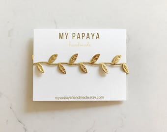 Gold leaf headband | newborn photo prop | gold headband | gold leaf crown | baby headband | boho headband