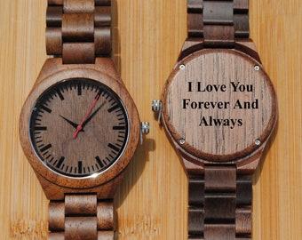 Wooden Watch, Wood Watch, Mens Watch, Watch, Boyfriend Gift, Groom Gift, Engraved Watch, Custom Watch, Wood Watches, Wooden Watches