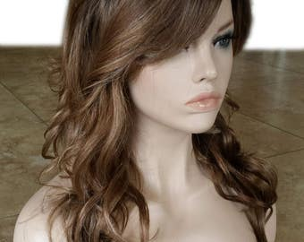 Forever Young Picture Perfect Wig (Dirty Blonde Ombre Color) Natural Hair | Long Wavy | Bangs | Layered Curly Fashion Wig