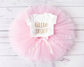 Little Sister Onesie, Little Sister Shirt, Little Sister Outfit, Baby Shower Gift, Sister Shirt, Baby Girl Shirt, Sibling Shirt,  Big Sister
