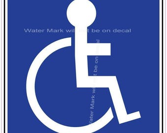 Handicapped Sticker/Decal