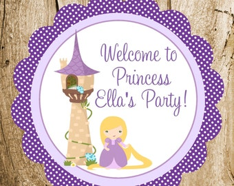 Rapunzel and Friends Party - Custom Rapunzel Party Sign by The Birthday House