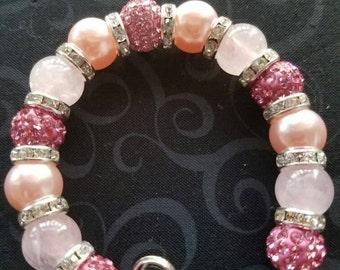 Breast Cancer Awareness Stretch Bracelet