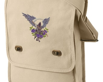 Angel of Death Embroidered Canvas Field Bag